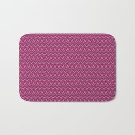 Chevron-Dark Pinkies Bath Mat