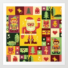 Christmas Geometric Pattern No. 1 Art Print