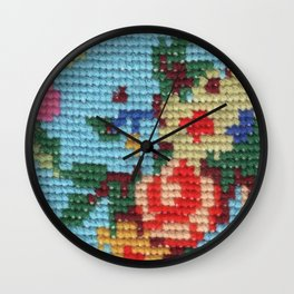 needlepoint Wall Clock