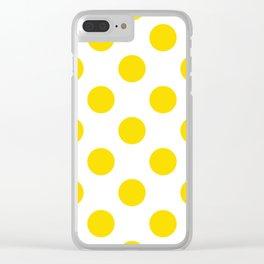 Geometric Orbital Spot Circles In Bright Summer Sun Shine Yellow on White Clear iPhone Case