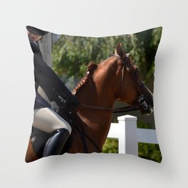 Ready for the jump Throw Pillow