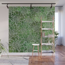 Dahlia Flower Pattern 4 Wall Mural