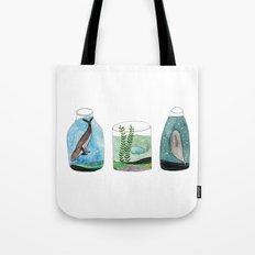 whales in a jar Tote Bag