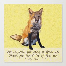 Fox in Socks Canvas Print
