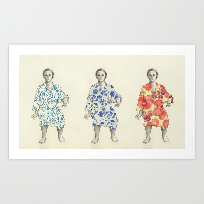 bathrobe Art Print