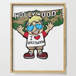 I LOVE HOLLYWOOD Los Angeles LA West Coast Tourist Serving Tray