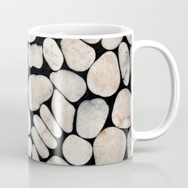 Light Stone Pattern Against Black Coffee Mug