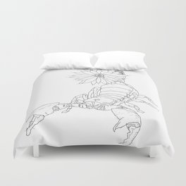 Poison you with flowers and love Duvet Cover