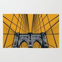 brooklyn bridge Area & Throw Rugs featuring BROOKLYN BRIDGE by Phillip Kauffman