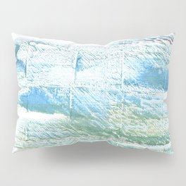 Mint cream abstract watercolor Pillow Sham