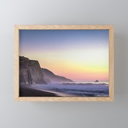 Scenic ocean sunset Framed Mini Art Print