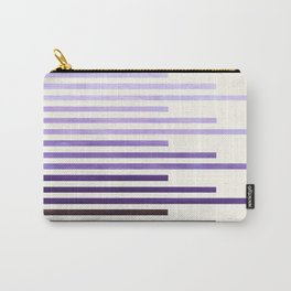 Purple Watercolor Gouache Minimalist Geometric Staggered Stripes Mid Century Art Carry-All Pouch