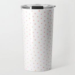 Cool Rose Gold Polka Dots Travel Mug
