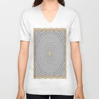 wooden V-neck T-shirts featuring Wooden Popart by Pepita Selles