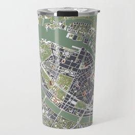 Copenhagen city map engraving Travel Mug
