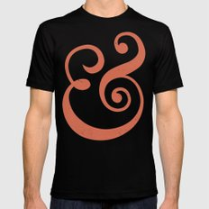Ampersand Mens Fitted Tee SMALL Black