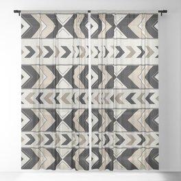 Tribal Arrow Boho Pattern #1 #aztec #decor #art #society6 Sheer Curtain