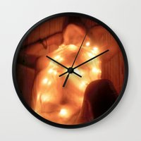 champagne Wall Clocks featuring Champagne by Synapse Shots - Matthew Cetta