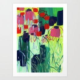 Buffalo Wildflowers - 4 Art Print