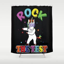 Rock The Test Unicorn Shower Curtain