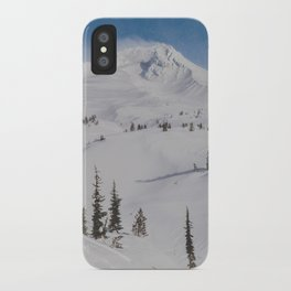 Snowy Mount Hood iPhone Case