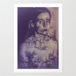 Projections II: Blue Art Print