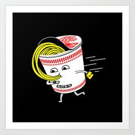 Quick meal in a rush! Art Print