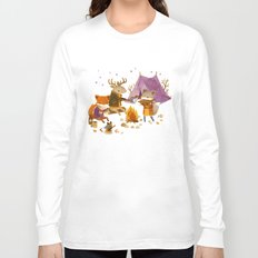 Critters: Fall Camping Long Sleeve T-shirt