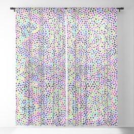 Fun Colorful Dots Pattern Sheer Curtain