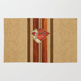 Waimea Hawaiian Surfboard Design Rug
