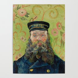 The Postman, Joseph Roulin, by Vincent van Gogh, 1889 Poster