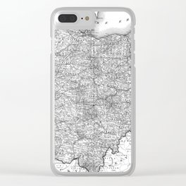 Vintage Map of Ohio (1864) BW Clear iPhone Case
