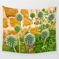 globe Wall Tapestries featuring Globe thistles by Pirmin Nohr