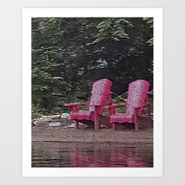 Algonquin Red Art Print