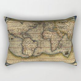 Old World Map print from 1564 Rectangular Pillow