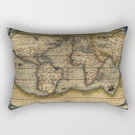 Old World Map print from 1564 Rectangular Pillow
