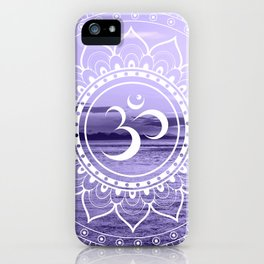 Water Om Mandala Lavender iPhone Case