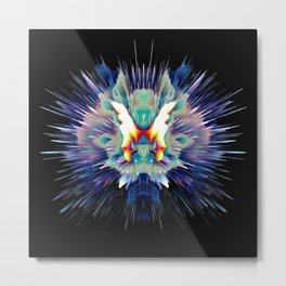 Light Butterfly Explosion Metal Print