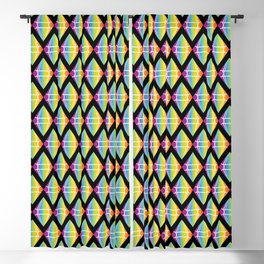 Abstract [RAINBOW] Emeralds pattern Blackout Curtain