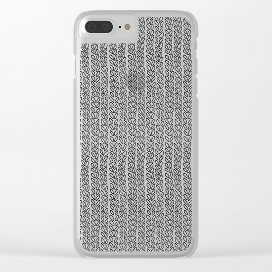 Knit Outline Clear iPhone Case