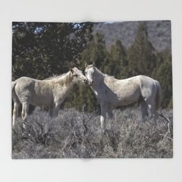 Wild Horses with Playful Spirits No 1 Throw Blanket