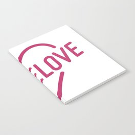 Pink Mome Love Notebook