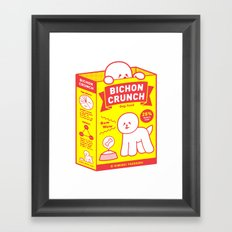 BICHON CRUNCH Framed Art Print