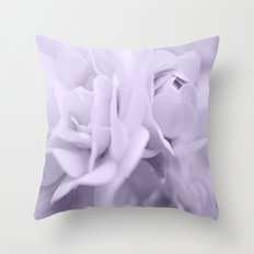 Lavender Roses Throw Pillow