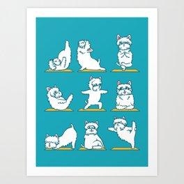 West Highland Terrier Yoga Art Print