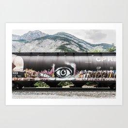 I see mountains Art Print
