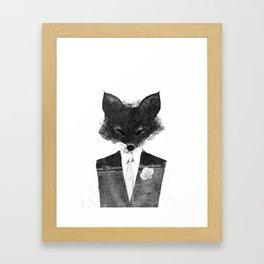 minima - dapper fox | noir Framed Art Print