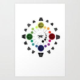 Circle of Yijing Art Print