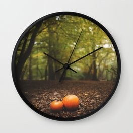 Family Pumpkin Wall Clock