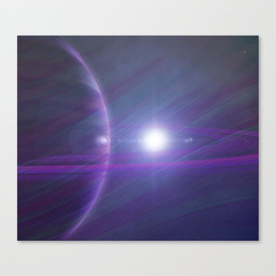 A world away Canvas Print